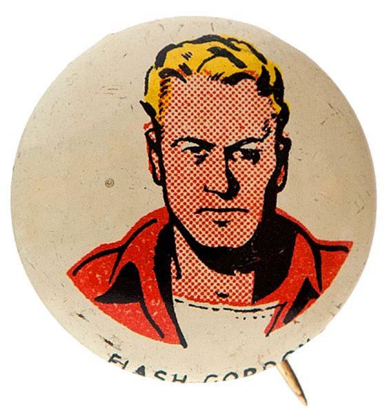 KELLOGG'S PEP FLASH GORDON CHARACTER BUTTON FROM 1945-46 SET OF 86.