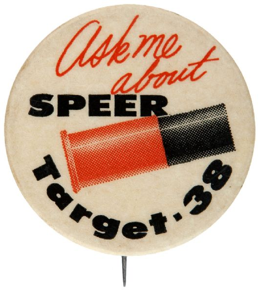 GUN POWDER BUTTON FOR SPEER SHOT GUN SHELL.