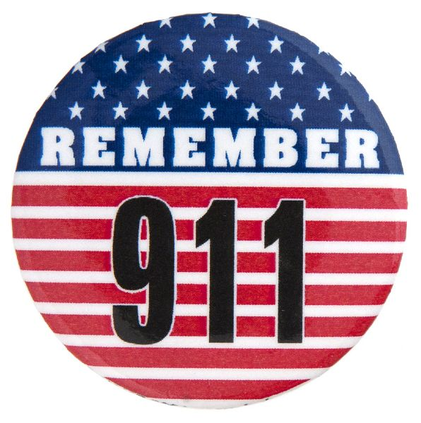 """REMEMBER 911"" MEMORIAL BUTTON."