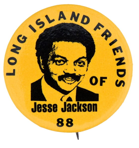 JESSE JACKSON 1.5 HOPEFUL BUTTON ISSUED IN 1988 BY HIS LONG ISLAND FRIENDS.