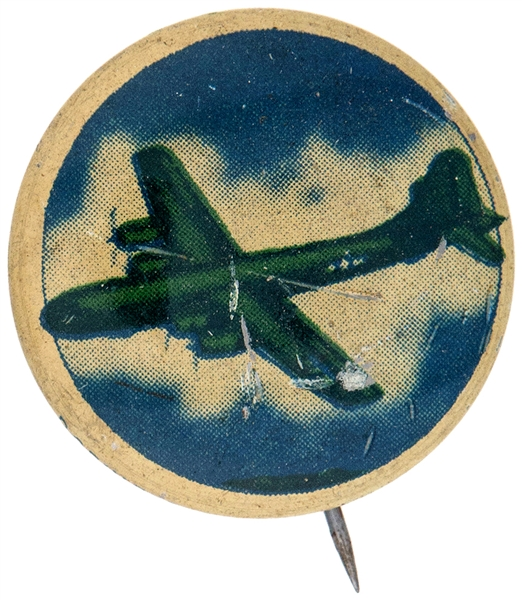 KELLOGG'S PEP AIRPLANE BUTTON FROM 1943 SET.