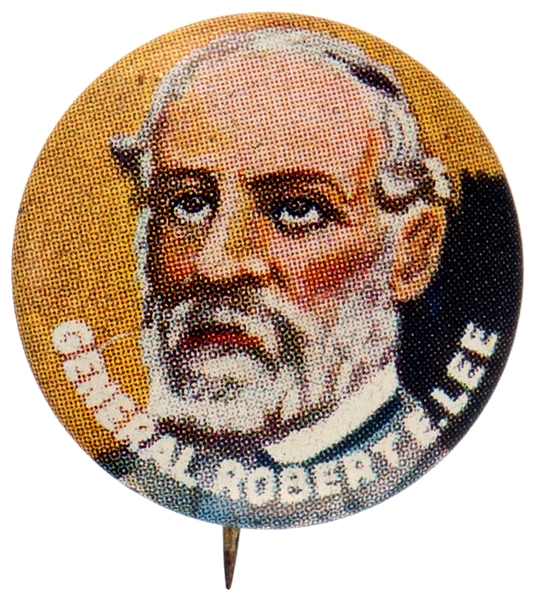 GENERAL ROBERT E. LEE YANK JUNIOR HERO SERIES LITHO BUTTON.