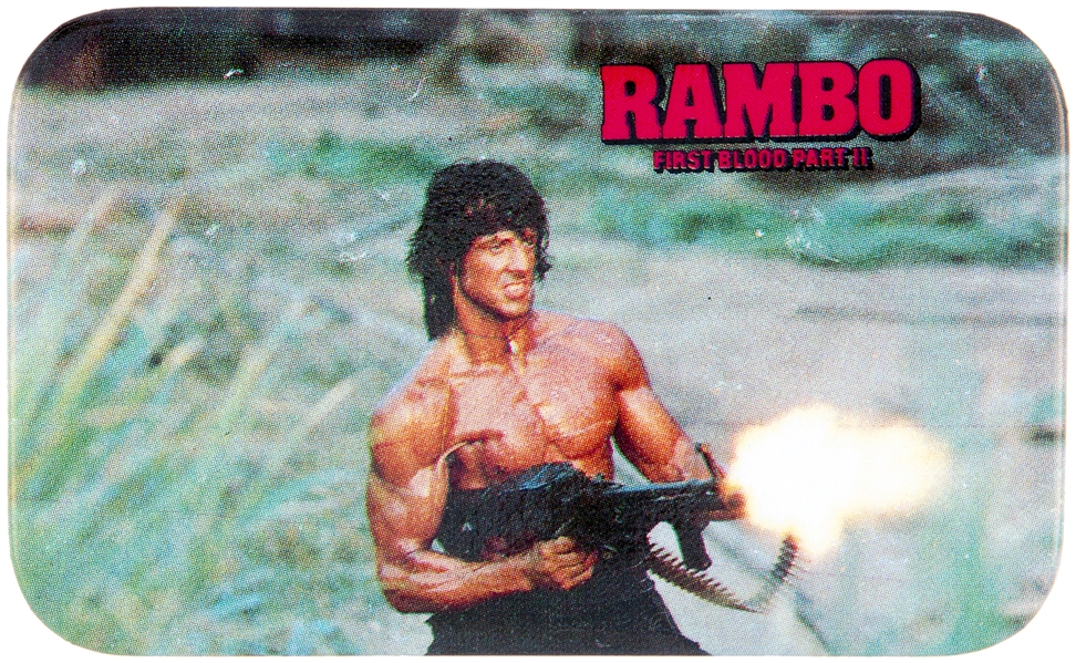 RAMBO FIRST BLOOD PART II MOVIE BUTTON.