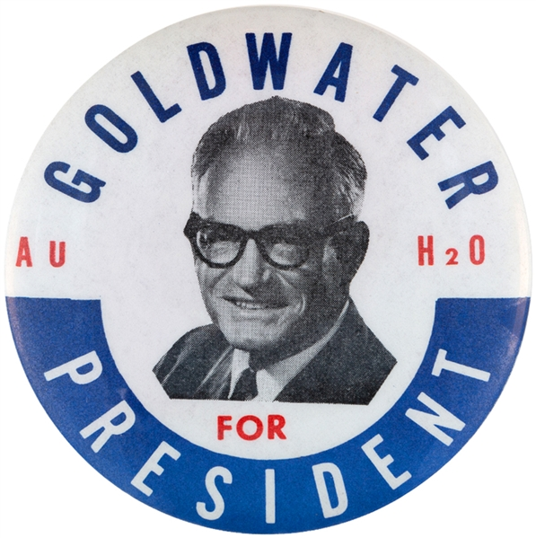 GOLDWATER AuH2O SCARCE 1964 BUTTON.